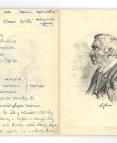 """Ilustracja do lektury Aleksandra Fredry """"Zemsta"""""""